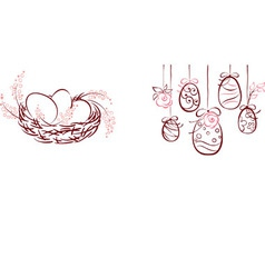 symbols of easter vector image