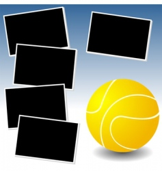 tennis photo adventure vector image vector image