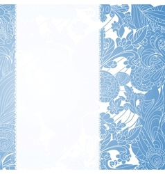 Vintage blue floral ornament background vector image vector image
