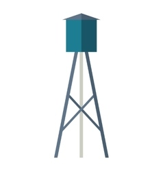 Water tower in flat design vector