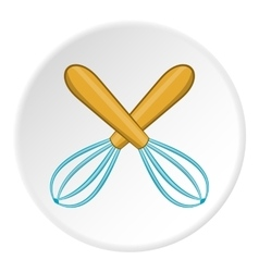 Whisks icon cartoon style vector image vector image