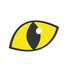 yellow eye cat staring icon vector image vector image