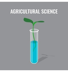 Agricultural science concept showing sprout in vector