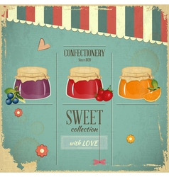 Confectionery retro design vector