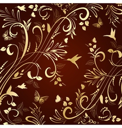 pattern background gold vector image