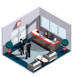 3d isometric interior of vector