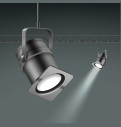 ceiling illuminated spotlights vector image