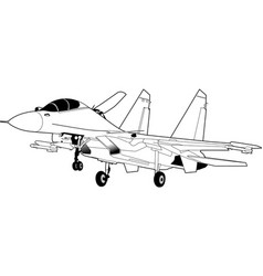 russian jet fighter aircraft su-30 vector image