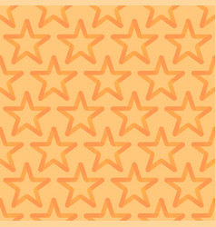 Seamless looped pattern with orange stars vector