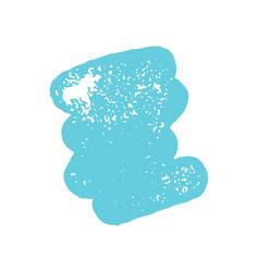 Grunge blue ink brush stroke element vector