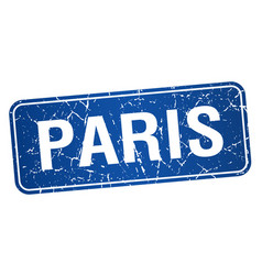 Paris blue stamp isolated on white background vector