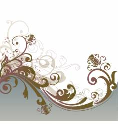Floral design background vector