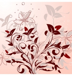 Flowering shrubs pattern vector