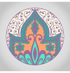 Isolated mandala pattern vintage ethnic vector