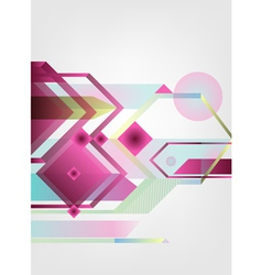 geometrical background vector image