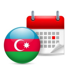 Icon of national day in azerbaijan vector