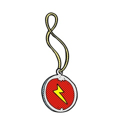 Comic cartoon magic pendant necklace vector