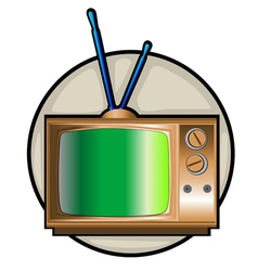 Retro tv set clip art vector