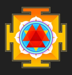 Colored durga yantra vector