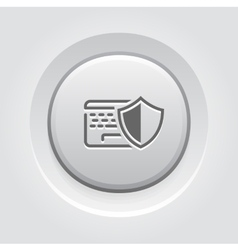 Data protection icon vector
