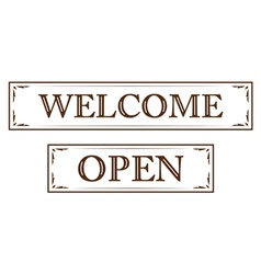 Graphic vintage welcome vector