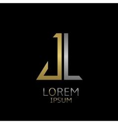 JL letters logo vector image