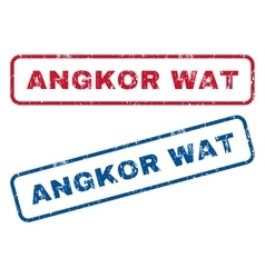 Angkor wat rubber stamps vector