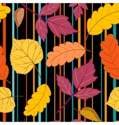 Black pattern leaves and stripes vector