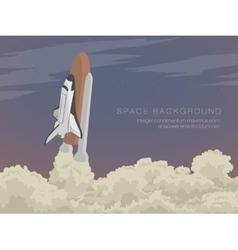 Blast off launch pad shuttle vector
