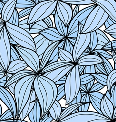 Blue leaves seamless background vector image vector image