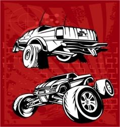 Buggy and bike vector