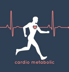 Cardio Metabolic Poster vector image