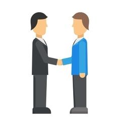 Double exposure of businessman meeting handshake vector