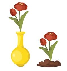 flowers in vase vector image
