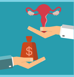 Hand of businessman with money and a female vector