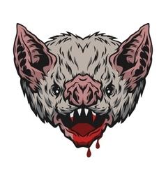 Head vampire bat vector image vector image