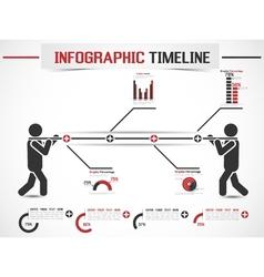 Infographic modern timeline man vector
