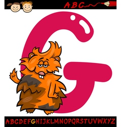 Letter g for guinea pig cartoon vector