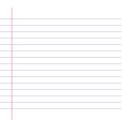 lined or ruled paper background vector image