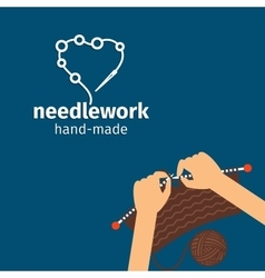 Needlework kids handmade vector