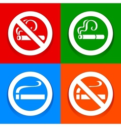 No smoking area - Stickers vector image vector image