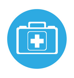 Round icon medical bag cartoon vector