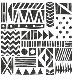 Seamless tribal pattern abstract vector