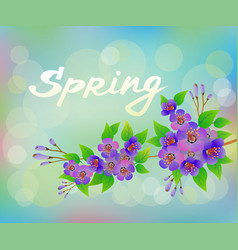 spring bouquet of flowers vector image