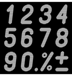 The numbers of bands on a black background vector