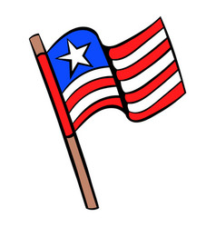 Usa flag icon cartoon vector