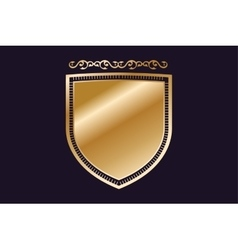Vintage old style shield icon vector image vector image