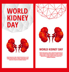 World kidney day flyer template vector