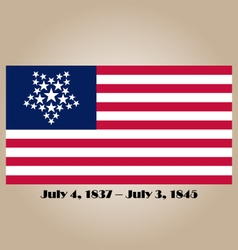 Historical american flag vector