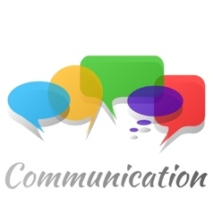 Transparent speech bubbles - communication concept vector